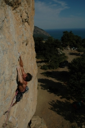 Parallelny Chertopoloh 8c+ (try, 2005, Crimea, Ukraine). Photos by D.Kostykov